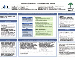 A Primary Palliative Care Pathway for Hospital Medicine - Poster Image