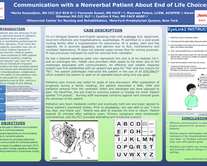 Communication with a Nonverbal Patient about End of Life Choices - Poster Image