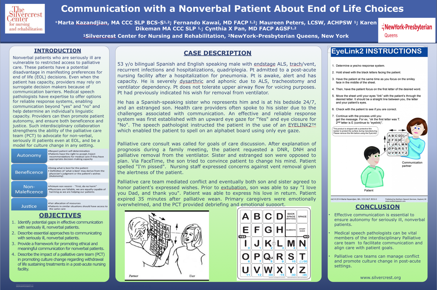 Communication with a Nonverbal Patient about End of Life