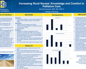 Increasing Rural Nurses' Knowledge and Comfort in Palliative Care - Poster Image