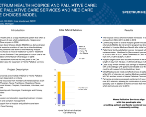 Spectrum Health Hospice and Palliative Care: Home Palliative Care Services and Medicare Care Choices Model - Poster Image
