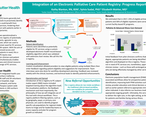 Integration of an Electronic Palliative Care Registry - Poster Image