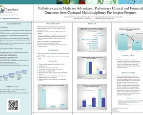 Palliative Care in Medicare Advantage: Preliminary Clinical and Financial Outcomes from Capitated Multidisciplinary Pre-Hospice Program - Poster Image