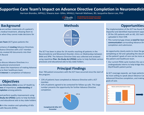 A Supportive Care Team's Impact on Advance Directive Completion in Neuromedicine - Poster Image