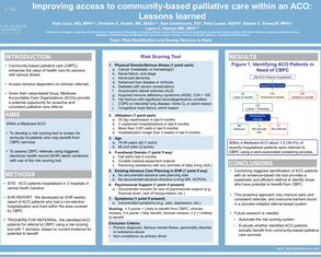 Improving Access to Community Palliative Care within an ACO: Lessons Learned - Poster Image