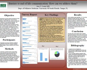 Barriers to End of Life Communication: How Can We Address Them? - Poster Image