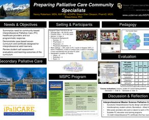 Preparing Palliative Care Community Specialists - Poster Image