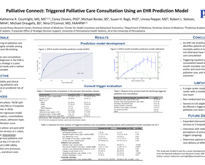 Palliative Connect: Triggered Palliative Care Consultation Using an EHR Prediction Model - Poster Image