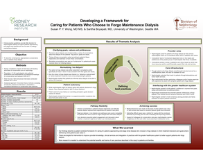 Conservative Care Models for End-Stage Renal Disease - Poster Image
