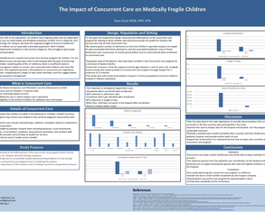 Impact of Concurrent Care for Medically Fragile Children - Poster Image