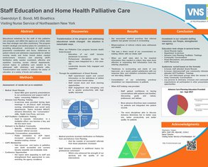 Staff Education and Home Health Palliative Care Program - Poster Image