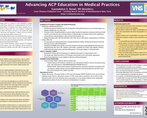 Advancing Care Planning Education in Medical Practices - Poster Image