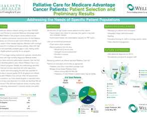 Palliative Care for Medicare Advantage Cancer Patients: Patient Selection and Preliminary Results - Poster Image
