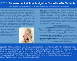 Bereavement Without Budget: A Pilot with MSW Students - Poster Image