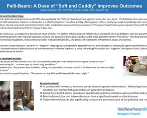 """Palli-Bears: A Dose of """"Soft and Cuddly"""" Improves Outcomes - Poster Image"""