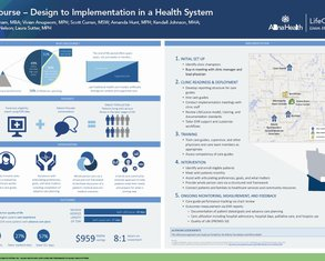 LifeCourse—Design to Implementation in a Health System - Poster Image