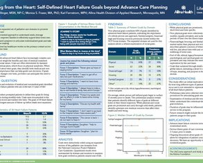 Speaking from the Heart: Heart Failure Goals beyond Advance Care Planning - Poster Image