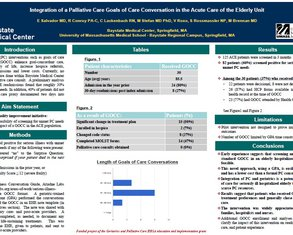 Integration of a Palliative Care Goals of Care Conversation in the Acute Care of the Elderly Unit - Poster Image