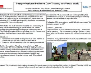 Immersive Palliative Care Education in a Virtual World - Poster Image
