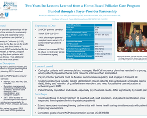 Two Years In: Reflections and Lessons Learned from a Home-Based Palliative Care Program Funded through a Payer-Provider Partnership - Poster Image