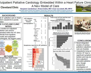 Outpatient Palliative Cardiology Embedded Within a Heart Failure Clinic: A New Model of Care - Poster Image