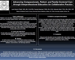 Advancing Compassionate, Patient/Family-Centered Care - Poster Image