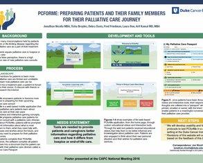 PCforMe: Preparing Patients for Palliative Care - Poster Image