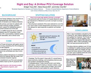 Night and Day: A 24 hour coverage solution for a PCU - Poster Image