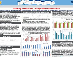 Reducing Readmissions Through Communication of Teams - Poster Image