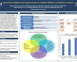 Implementation of a Pediatric PC Champions Program - Poster Image