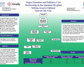 PC & OPO Collaboration Ensures Patient-Centered EOL Care - Poster Image