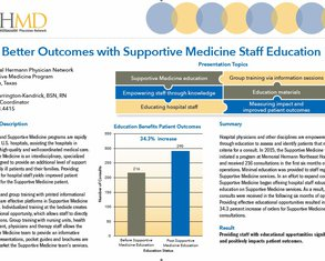 Better Outcomes with Palliative Care Staff Education - Poster Image