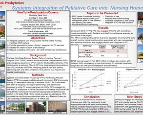 Systems Integration of Palliative Care into Nursing Homes - Poster Image