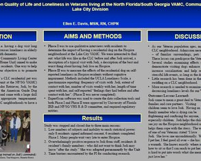 Effect of a Residential Dog on Quality of Life and Loneliness in Veterans living at the North Florida/South Georgia VAMC, Community Living Center Lake City Division - Poster Image