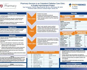 Pharmacy Services in an Outpatient Palliative Care Clinic - Poster Image