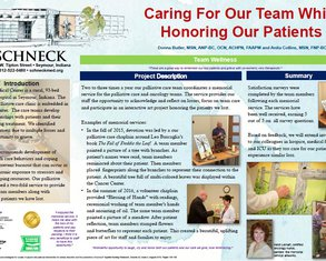 Caring for Our Team While Honoring Our Patients - Poster Image