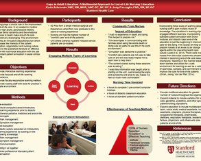 Gaps in Adult End of Life Education: a Multimodal Approach - Poster Image