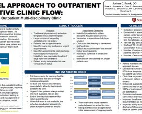 A Novel Approach to Outpatient Palliative Care Clinic Flow - Poster Image