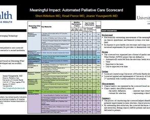 Meaningful Impact: Automated Palliative Care Scorecard - Poster Image